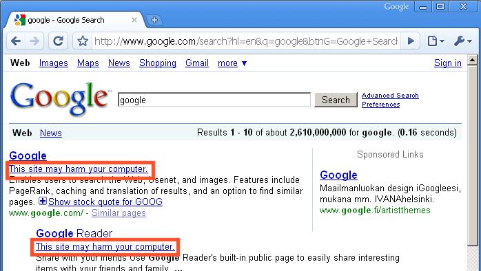 Google Broken