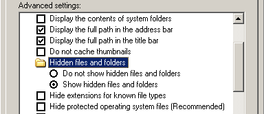 Image - Hidden attribute settings