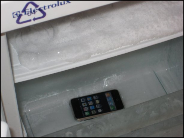 iPhone in a Freezer