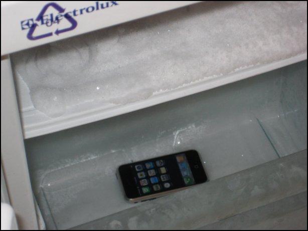 iPhone in a Freezer