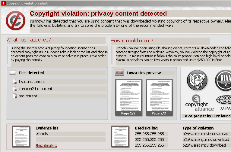 ICPP online fraud