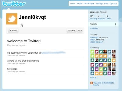 iPad scam, Twitter Jenny