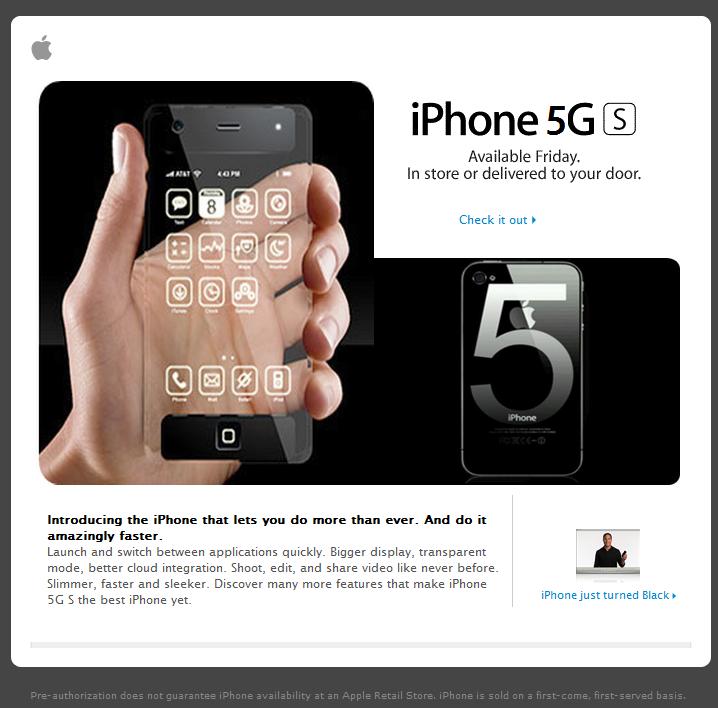 Fake iPhone 5GS