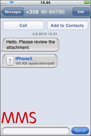 iphone mms with pdf attachment