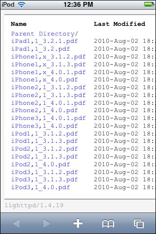 JailbreakMe 2.0 PDF Directory