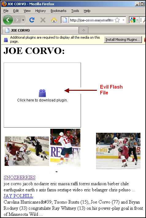 Joe Corvo HTML