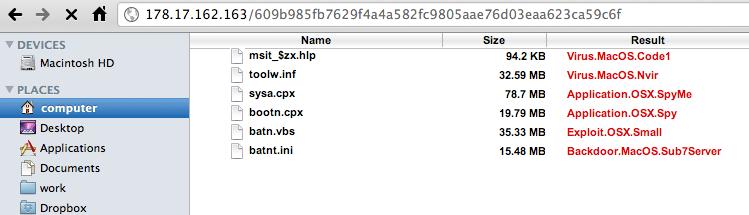 Mac OS X fake