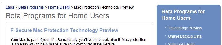 Mac beta