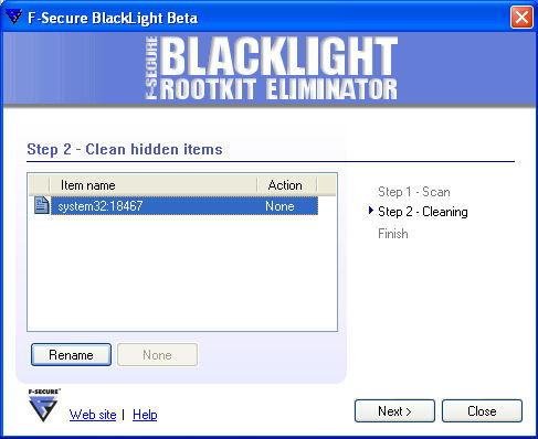 BlackLight Detecting Mailbot.AZ
