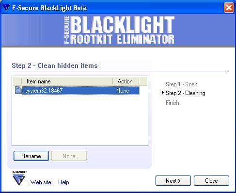 BlackLight Detecting Mailbot.AZ