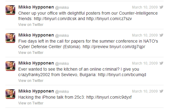Twitter archive of @mikko from 2009 to 2013