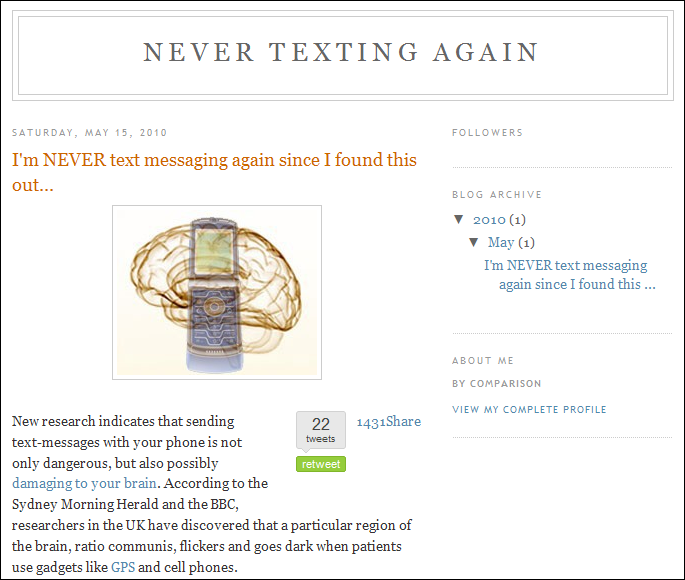 Never Texting Again