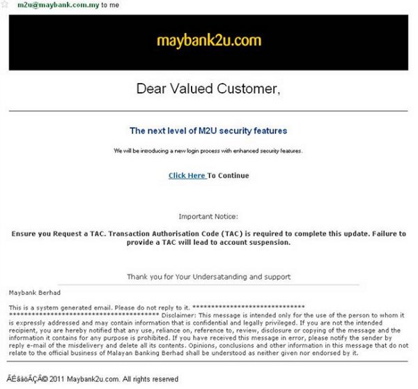 Maybank phishing