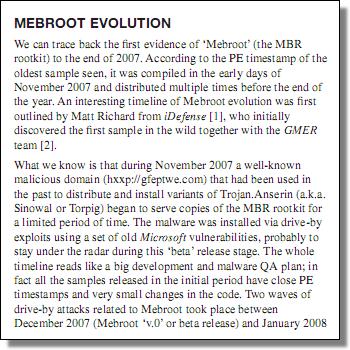 Mebroot VBPaper