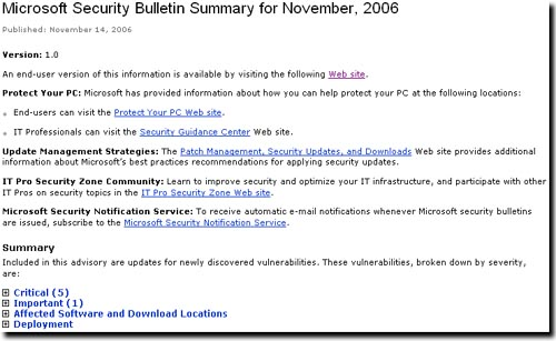 MSPatches Nov2006