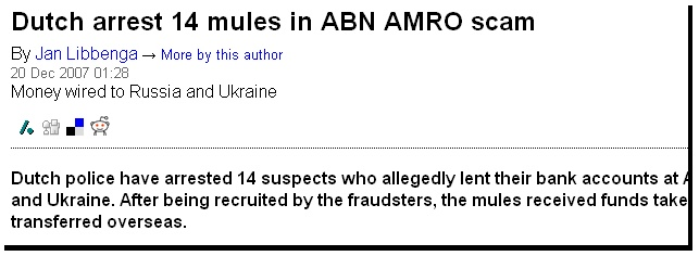 Arrested Money Mules