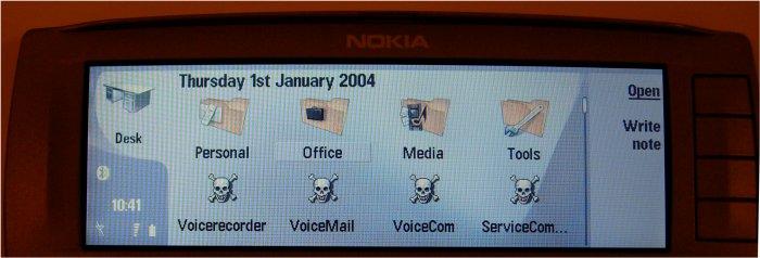 Nokia 9500 with Skulls
