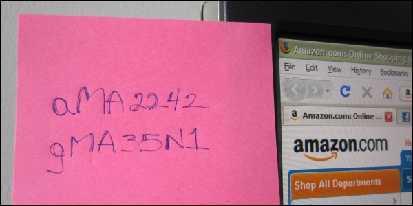 Passwords on a post-it