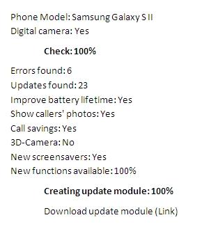 phone optimizer scan translation