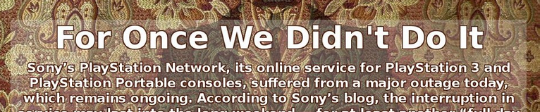 Sony vs Anonymous