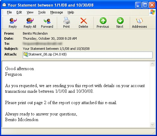 sample letter for statement of account.