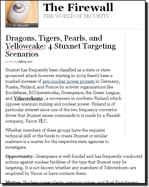Forbes Stuxnet Ydinverkosto