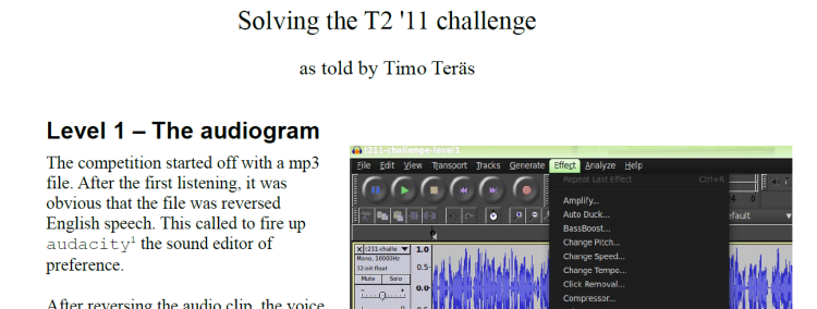 t2 challenge