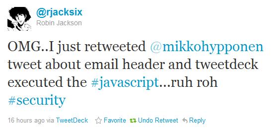 Tweetdeck XSS