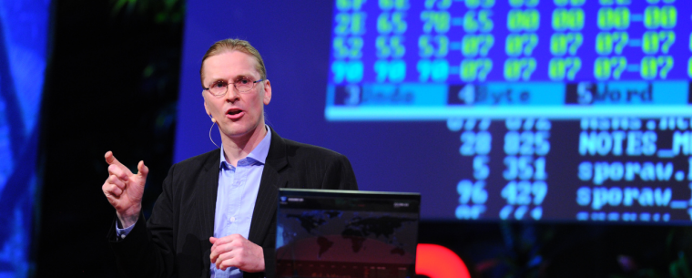 Mikko Hypponen doing his TED Talk at TEDGlobal 2011 - Photo: James Duncan Davidson / TED