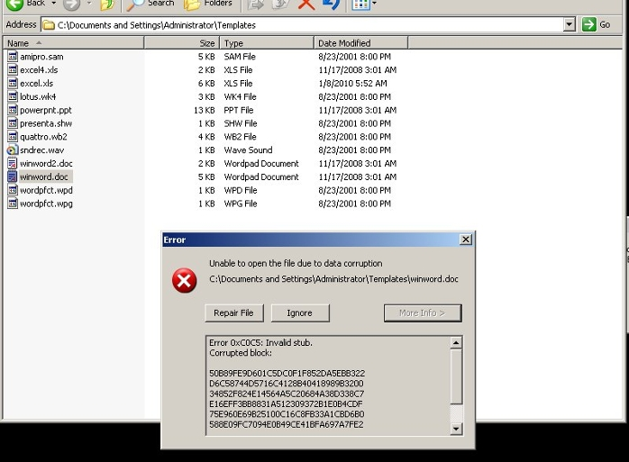 Trojan.W32.Datcrypt, Notice