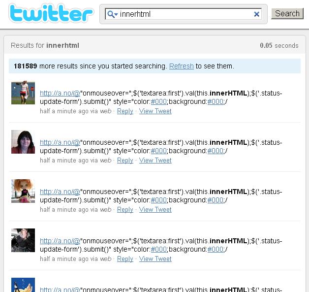Twitter worm