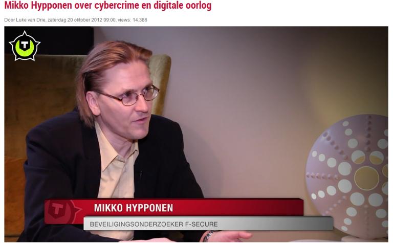 Mikko Hypponen – Beveiligingsonderzoeker F-Secure