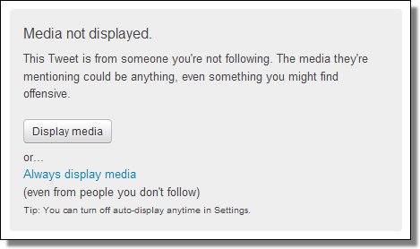 Media not displayed