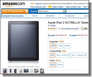 Amazon affiliate iPad