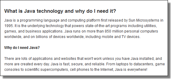 What is Java technology and why do I need it?