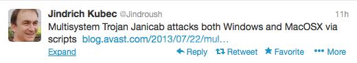 tweet from Jindrich Kubec
