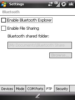 Windows Mobile Bluetooth FTP
