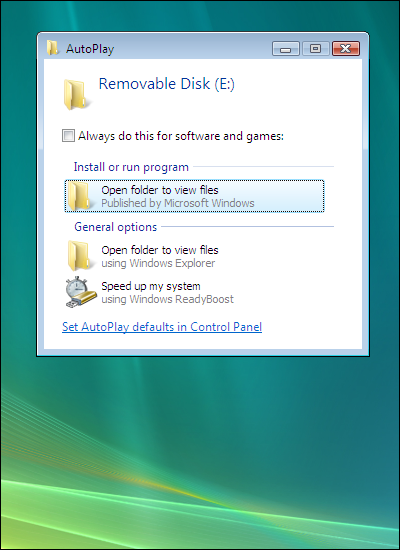 Windows Vista, Open folder to view files