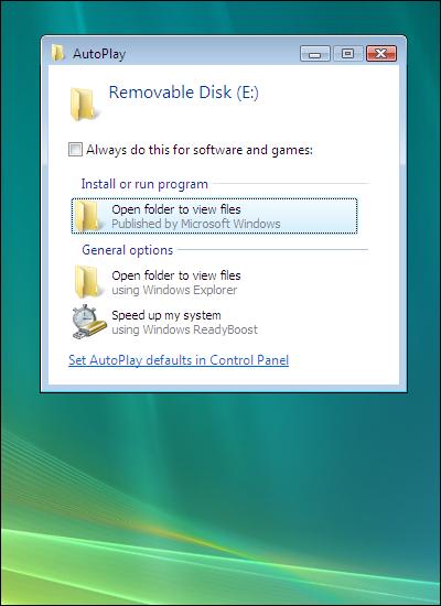 Windows Vista, Open folder to view files