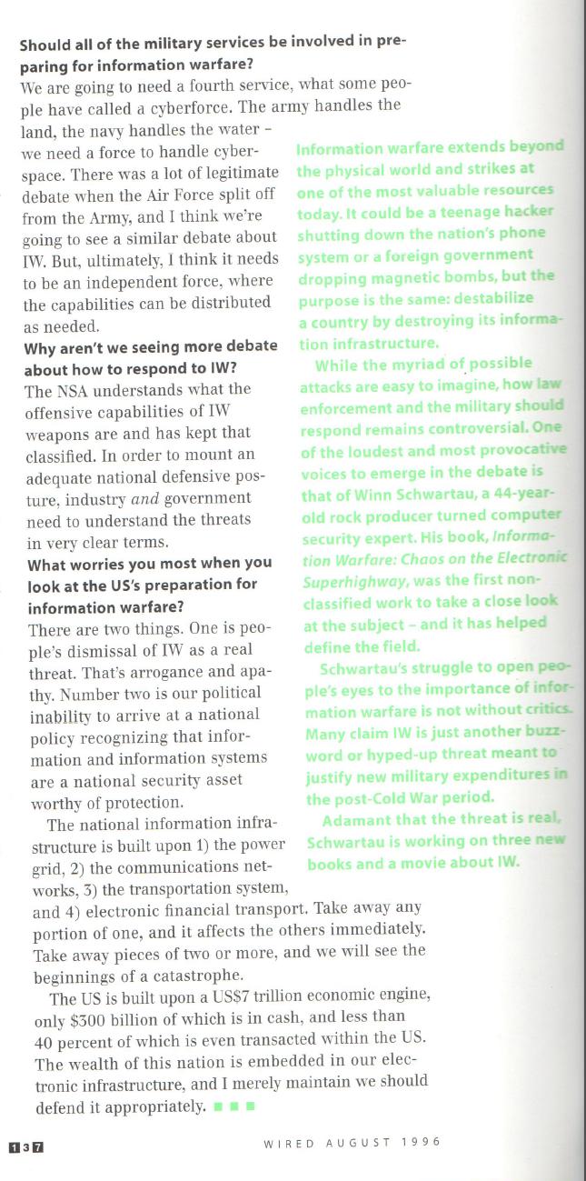 Cyberwar 1996