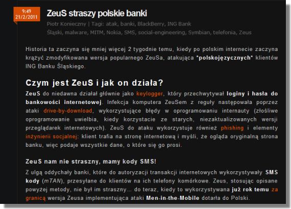ZeuS in the Mobile, Zitmo, ING Poland, http://niebezpiecznik.pl/post/zeus-straszy-polskie-banki/